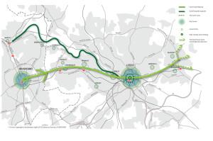 Leeds-Bradford Cycle Superhighway Map